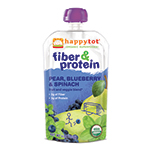 Frontier Natural Products 228635 Happy Tots Pear Blueberry & Spinach Organic Superfoods for Kids Stage