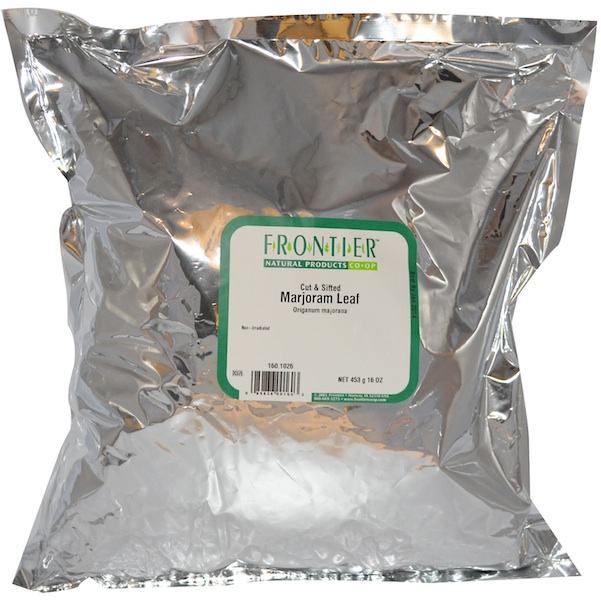 Frontier Natural Products 2618 Marjoram Leaf Cut & Sifted Organic