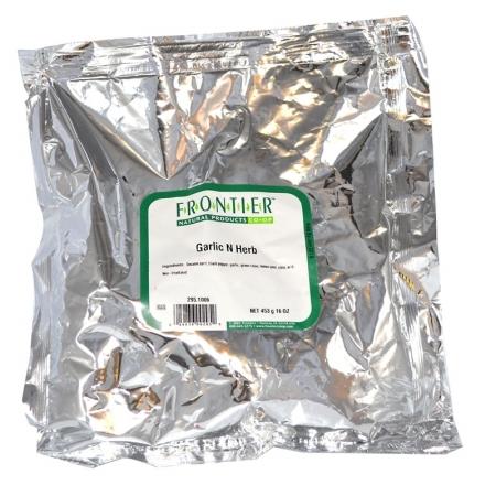 Frontier Natural Products 295 Garlic N Herb Seasoning Blend