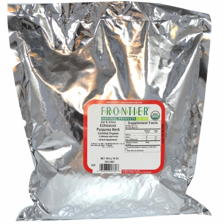 Frontier Natural Products 769 Frontier Bulk Echinacea Purpurea Herb Cut & Sifted Organic 1 Lbs.