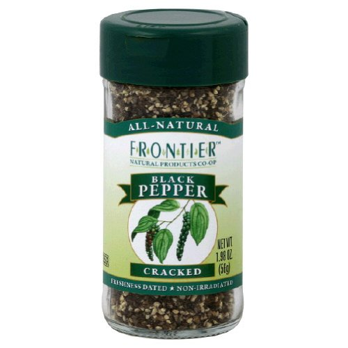 Frontier Natural Products Pepper Black Cracked 2-Ounce