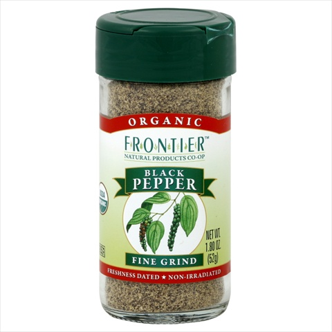 Frontier Natural Products Pepper Og Black Fine Ground 1.80-Ounce