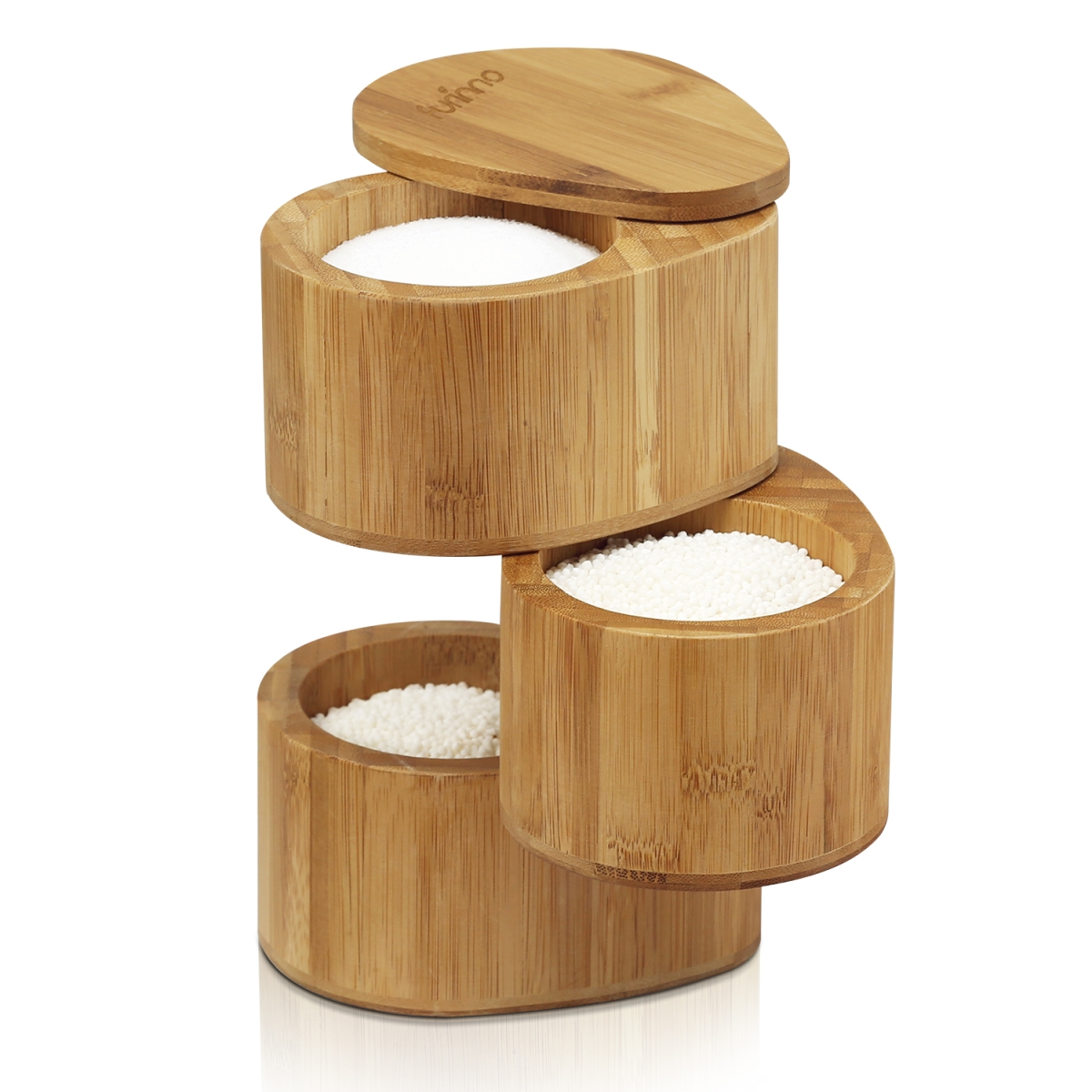 Furinno FK8942 Dapur Bamboo 3 Tier Spice Can