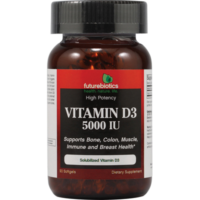 Futurebiotics 0201731 Vitamin D3 - 5000 IU - 90 Softgels