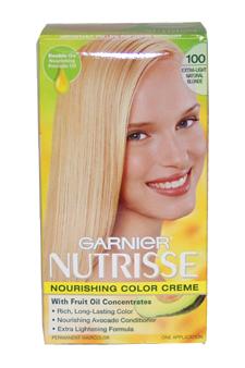 Garnier U-HC-1976 Nutrisse Nourishing Color Creme No.100 Extra Light Natural Blonde - 1 Application - Hair Color