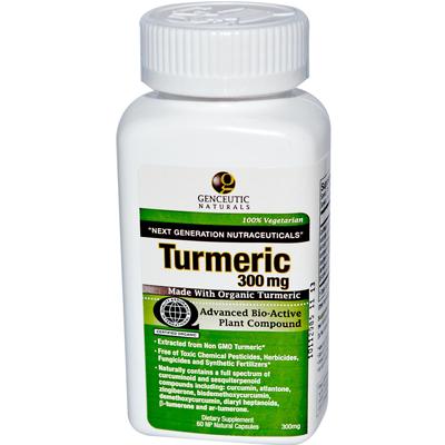 Genceutic Naturals BG13437 Genceutic Naturals Tumeric 300Mg - 1x60CAP
