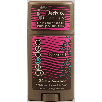 Geo-Deo 1142322 Natural Deodorant Stick with Detox Complex Island - 2.3 oz