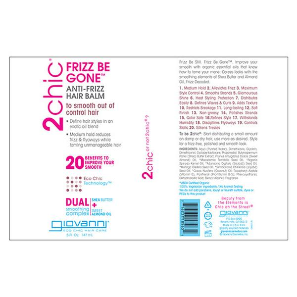 Giovanni 232082 5 fl oz Frizz Be Gone Hair Balm