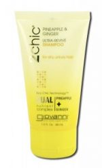 Giovanni 233060 Ultra-Revive 1.5 oz Pineapple & Ginger Travel Size Shampoo