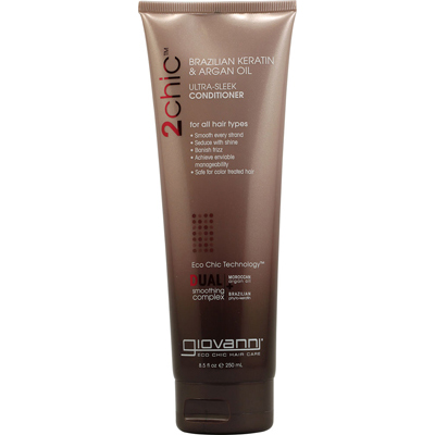 Giovanni Hair Care Products 1084524 2chic Ultra-Sleek Conditioner with Brazilian Keratin and Argan Oil - 8.5 fl oz