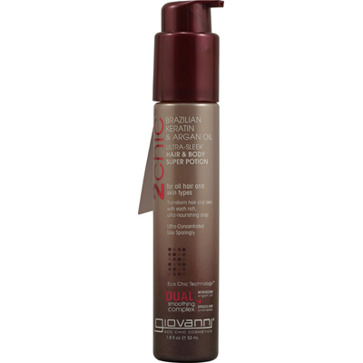 Giovanni Hair Care Products 1084599 2chic Ultra-Sleek Hair and Body Super Potion with Brazilian Keratin and Argan Oil - 1.8 fl oz