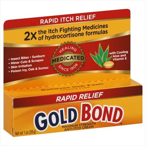 Gold Bond Anti-Itch Cream Medicated Rapid Relief Maximum Strength