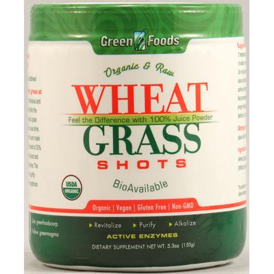Green Foods 1090109 Organic and Raw Wheat Grass Shots - 5.3 oz