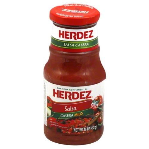 HERDEZ SALSA CASERA MILD-16 OZ -Pack of 6