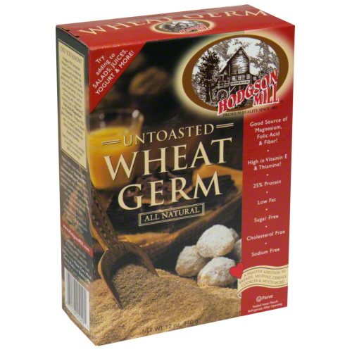 HODGSON MILL WHEAT GERM UNTOASTED-12 OZ -Pack of 6
