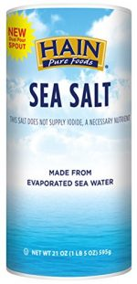 Hain 2177939 21 oz Pure Foods Sea Salt - Case of 8