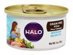 Halopets 2155042 3 oz Pate Cat Food Whitefish Grain Free - Case of 18