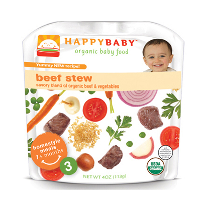 Happy Baby 0702746 Organic Baby Food Stage 3 Beef Stew - 4 oz