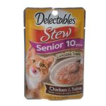 Hartz 11055 1.4 oz Delectables Stew Senior Lickable Cat Treats - Chicken & Tuna