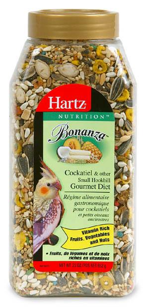 Hartz 23 Oz Nutrition Bonanza Gourmet Cockatiel Diet 91106