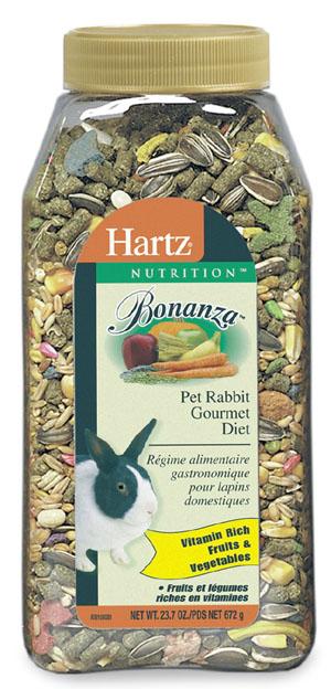 Hartz 23.75 Oz Nutrition Bonanza Gourmet Rabbit Diet 95157