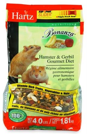 Hartz 4 Lb Nutrition Bonanza Hamster & Gerbil Gourmet Diet 97617