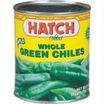 Hatch Farms Inc. B64805 Hatch Mild Whole Green Chiles -12x4oz