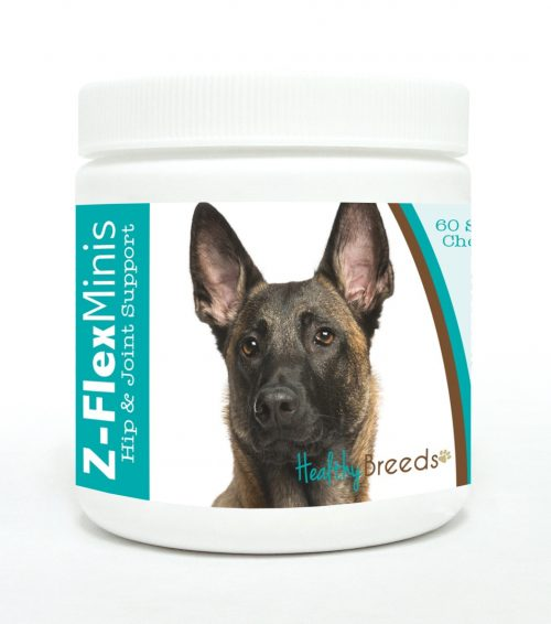Healthy Breeds 840235102403 Belgian Malinois Z-Flex Minis Hip & Joint Support Soft Chews - 60 Count