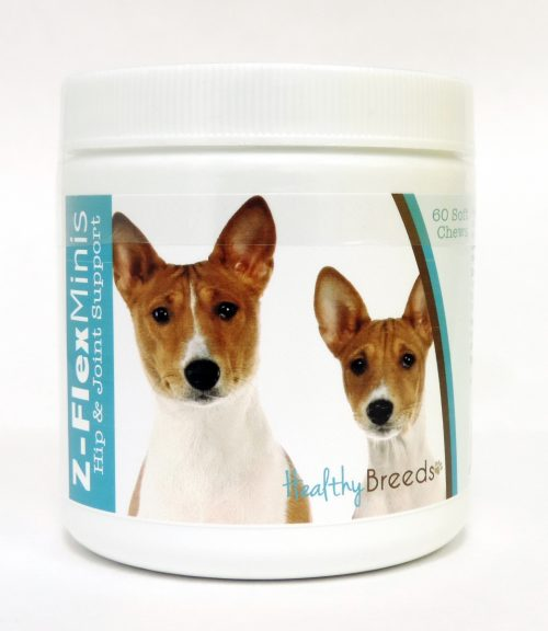 Healthy Breeds 840235103639 Basenji Z-Flex Minis Hip & Joint Support Soft Chews - 60 Count