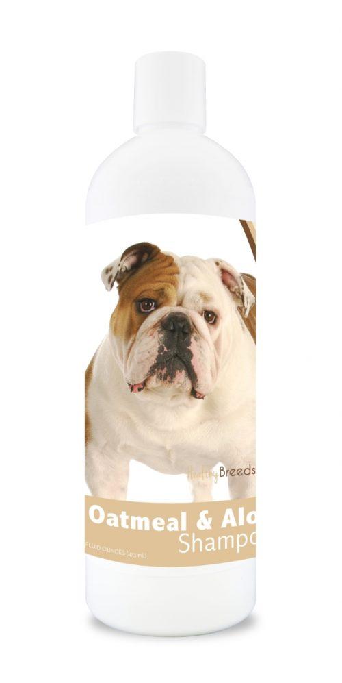 Healthy Breeds 840235103950 16 oz Bulldog Oatmeal Shampoo with Aloe