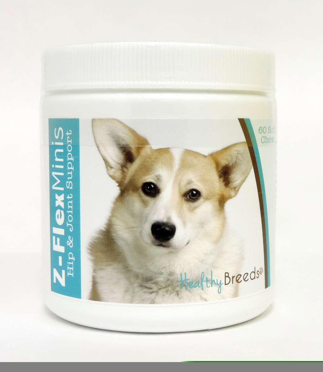 Healthy Breeds 840235104636 Cardigan Welsh Corgi Z-Flex Minis Hip & Joint Support Soft Chews 60 Count