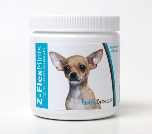Healthy Breeds 840235104766 Chihuahua Z-Flex Minis Hip & Joint Support Soft Chews 60 Count