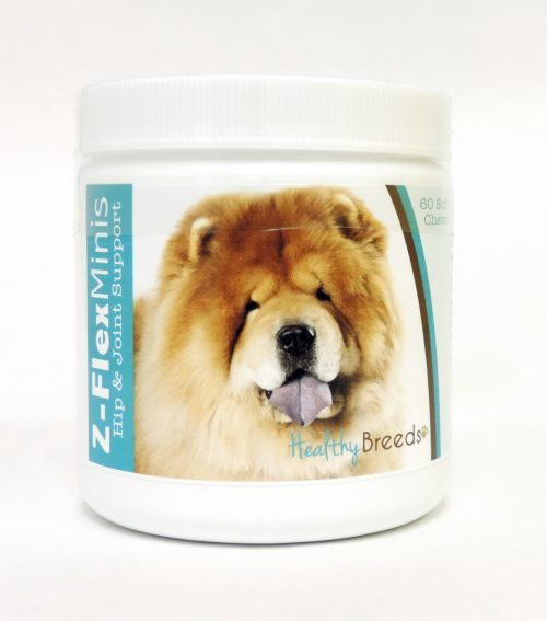 Healthy Breeds 840235104933 Chow Chow Z-Flex Minis Hip & Joint Support Soft Chews 60 Count
