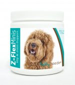 Healthy Breeds 840235110422 Labradoodle Z-Flex Minis Hip & Joint Support Soft Chews - 60 Count