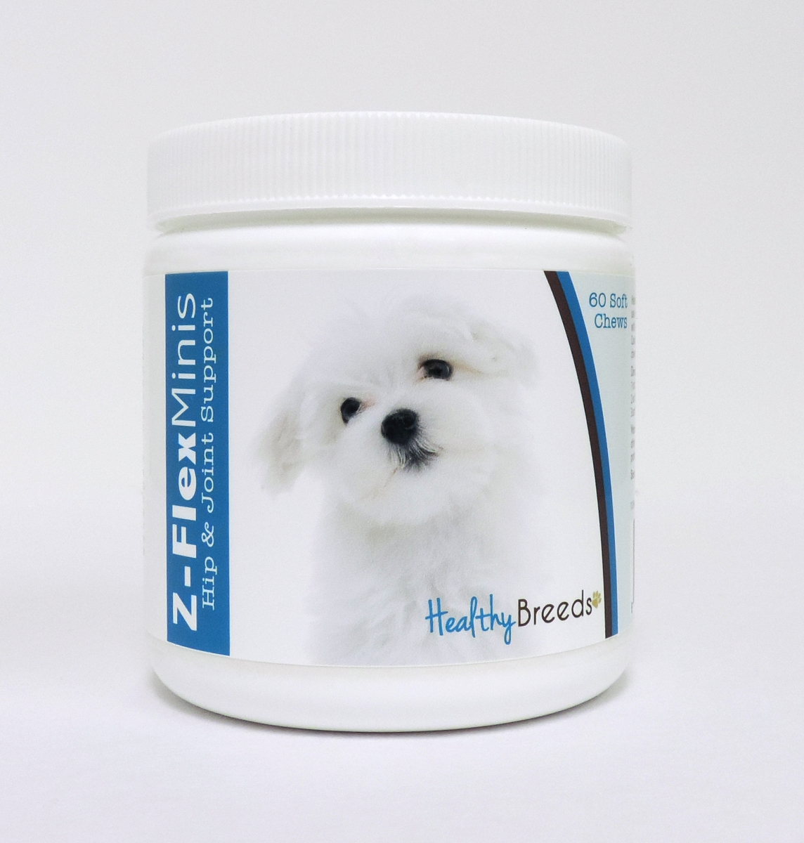 Healthy Breeds 840235110682 Maltese Z-Flex Minis Hip & Joint Support Soft Chews - 60 Count