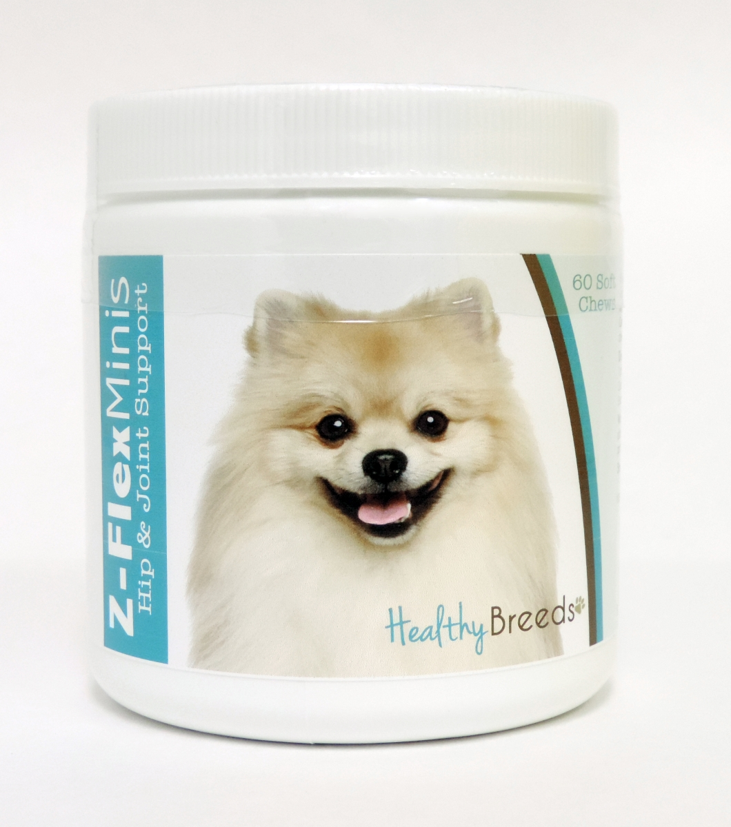 Healthy Breeds 840235112556 Pomeranian Z-Flex Minis Hip & Joint Support Soft Chews - 60 Count