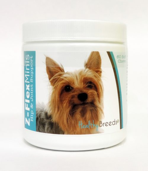 Healthy Breeds 840235114680 Silky Terrier Z-Flex Minis Hip & Joint Support Soft Chews 60 Count