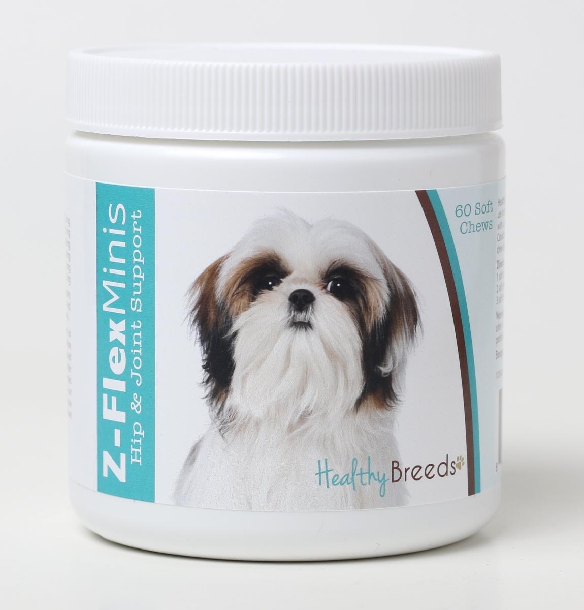 Healthy Breeds 840235115540 Shih Tzu Z-Flex Minis Hip & Joint Support Soft Chews 60 Count