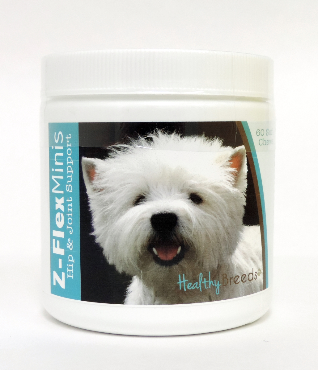 Healthy Breeds 840235116615 West Highland White Terrier Z-Flex Minis Hip & Joint Support Soft Chews 60 Count