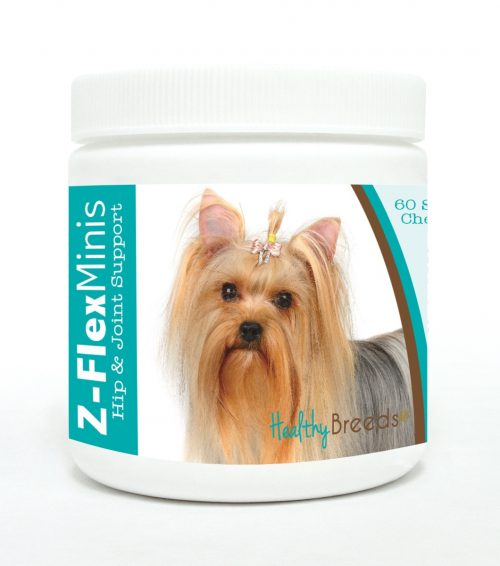 Healthy Breeds 840235117032 Yorkshire Terrier Z-Flex Minis Hip & Joint Support Soft Chews 60 Count