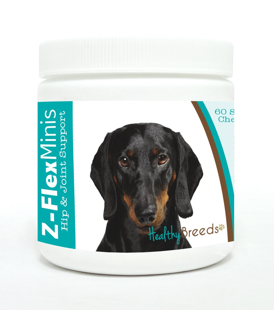 Healthy Breeds 840235117193 Dachshund Z-Flex Minis Hip & Joint Support Soft Chews 60 Count