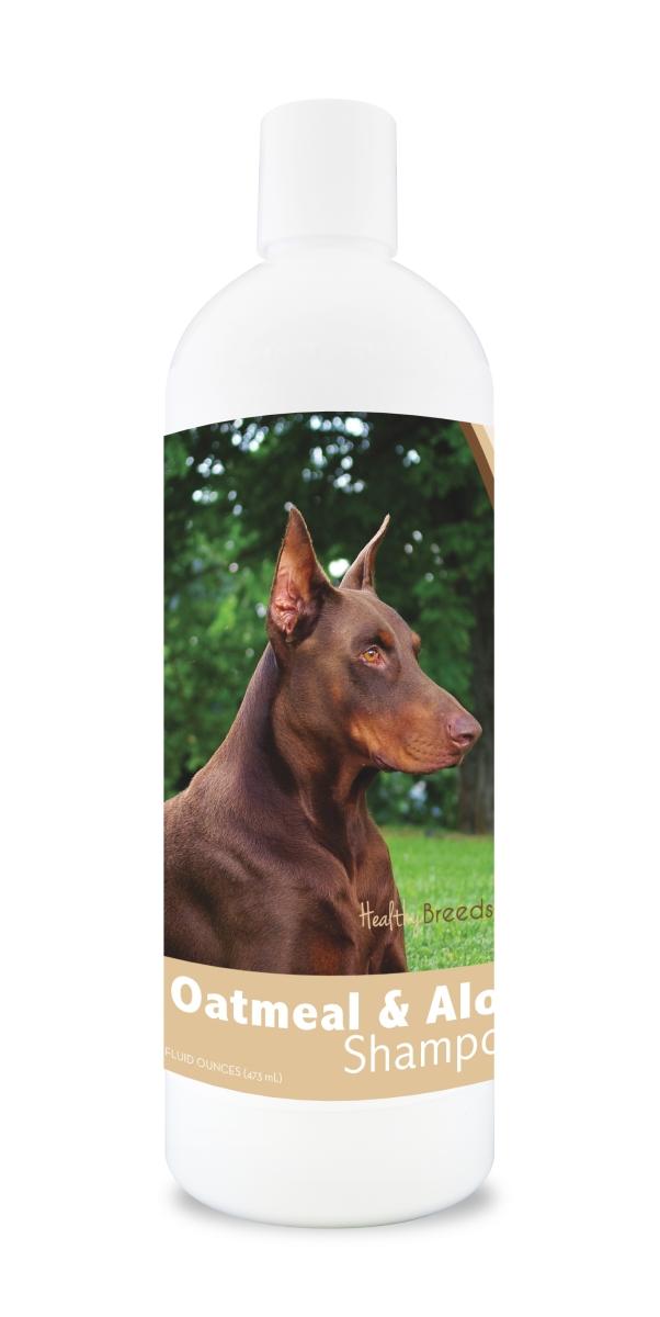 Healthy Breeds 840235117230 16 oz Doberman Pinscher Oatmeal Shampoo with Aloe