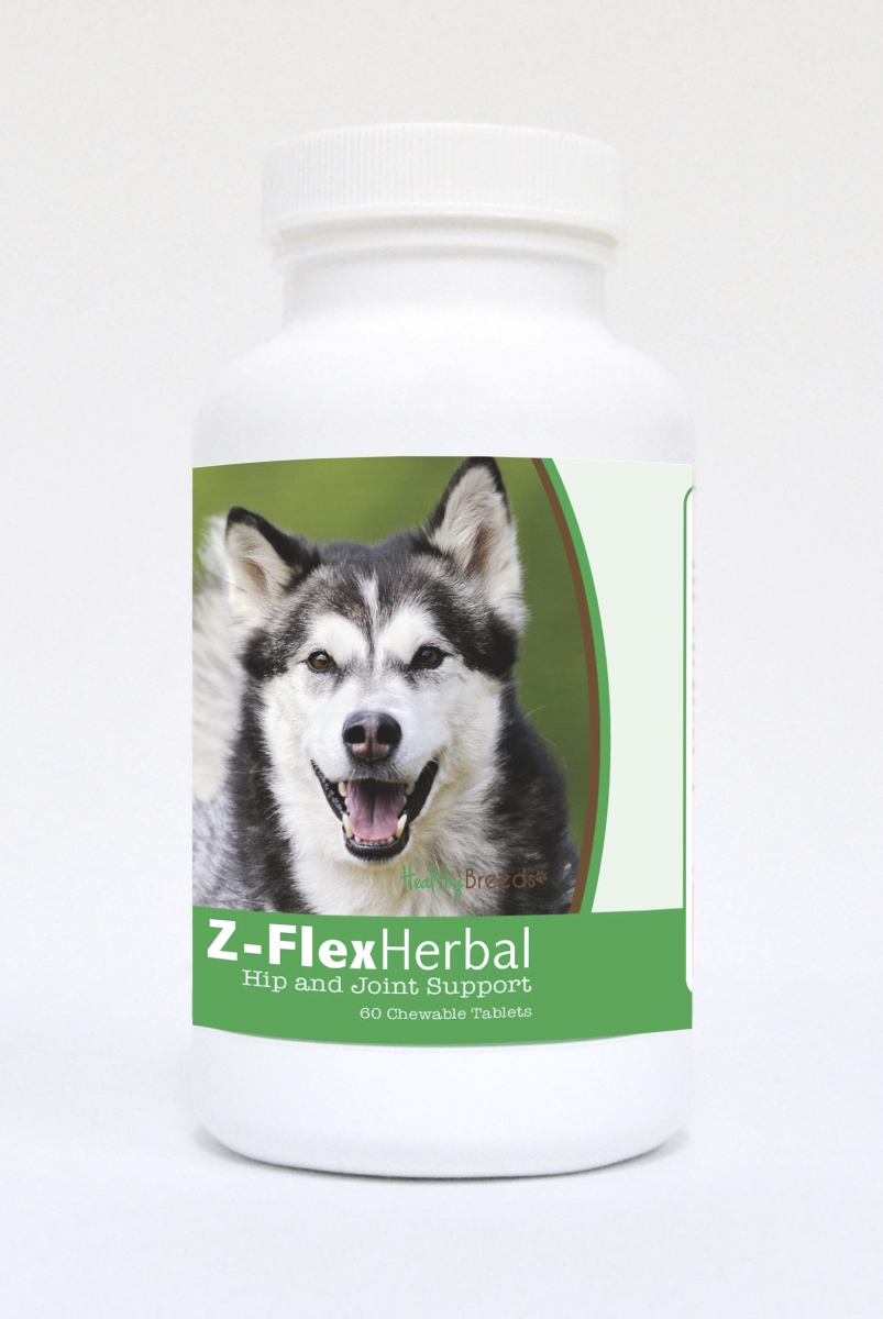 Healthy Breeds 840235118404 Alaskan Malamute Natural Joint Support Chewable Tablets 60 Count