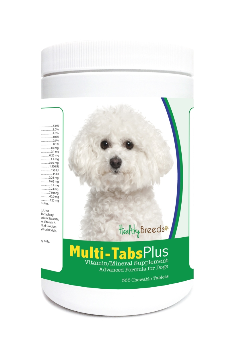 Healthy Breeds 840235121664 Bichon Frise Multi-Tabs Plus Chewable Tablets - 365 Count