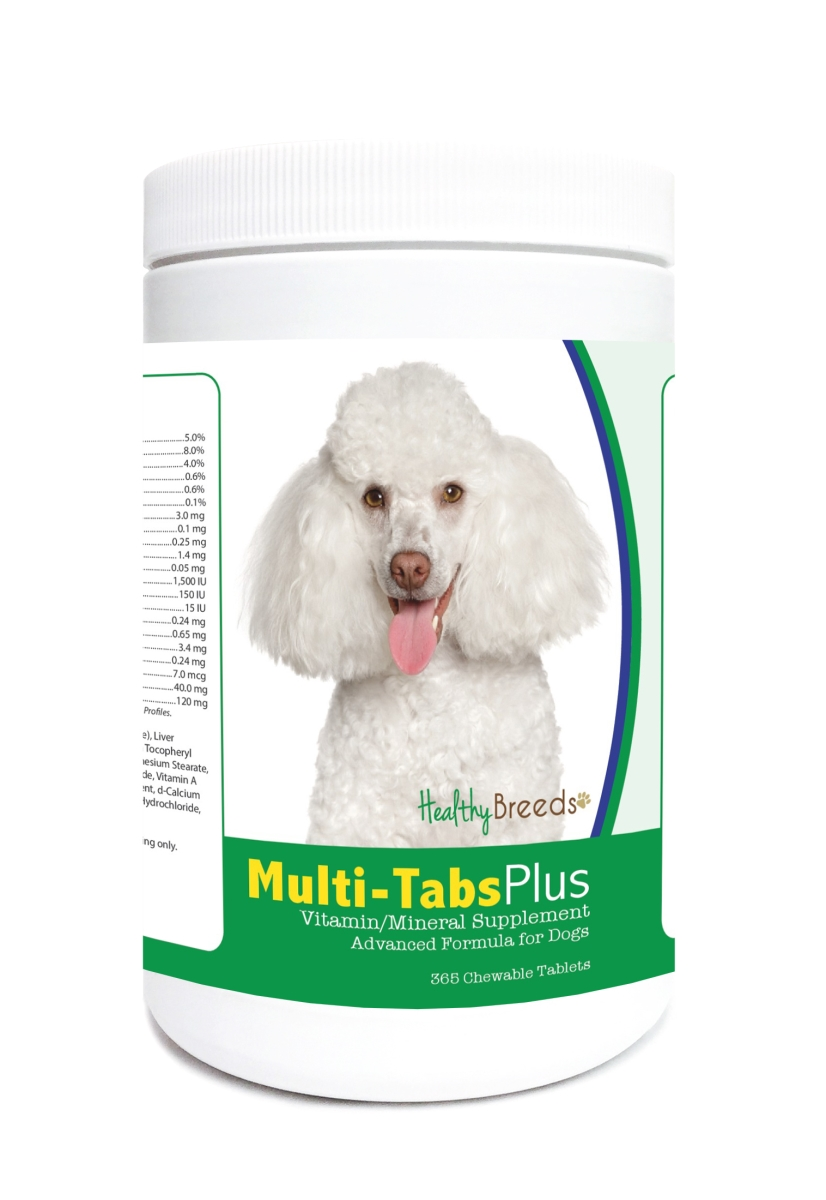 Healthy Breeds 840235121671 Toy Poodle Multi-Tabs Plus Chewable Tablets - 365 Count