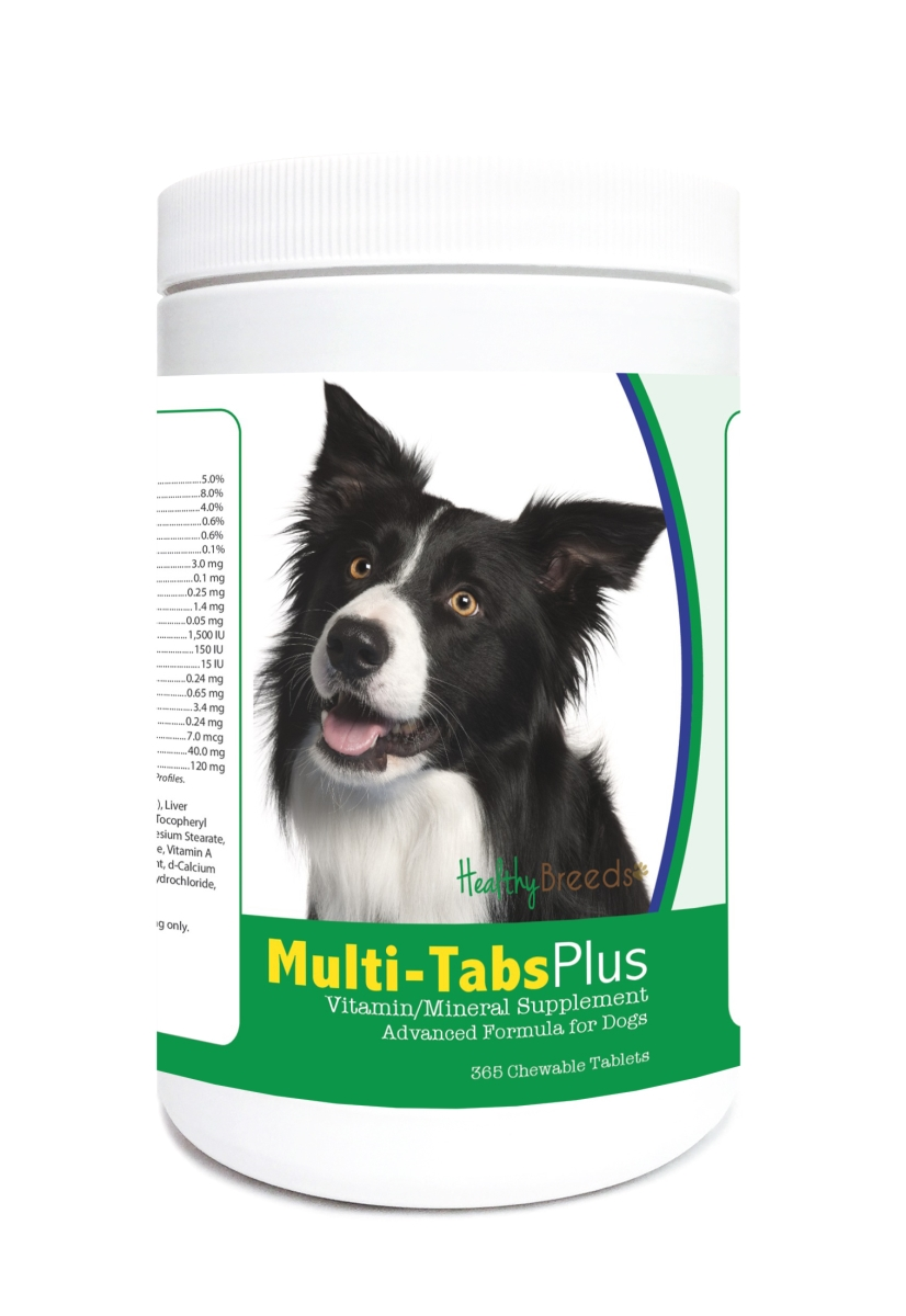 Healthy Breeds 840235121817 Border Collie Multi-Tabs Plus Chewable Tablets - 365 Count