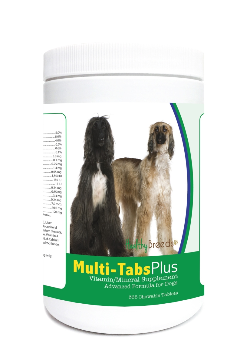 Healthy Breeds 840235121824 Afghan Hound Multi-Tabs Plus Chewable Tablets - 365 Count