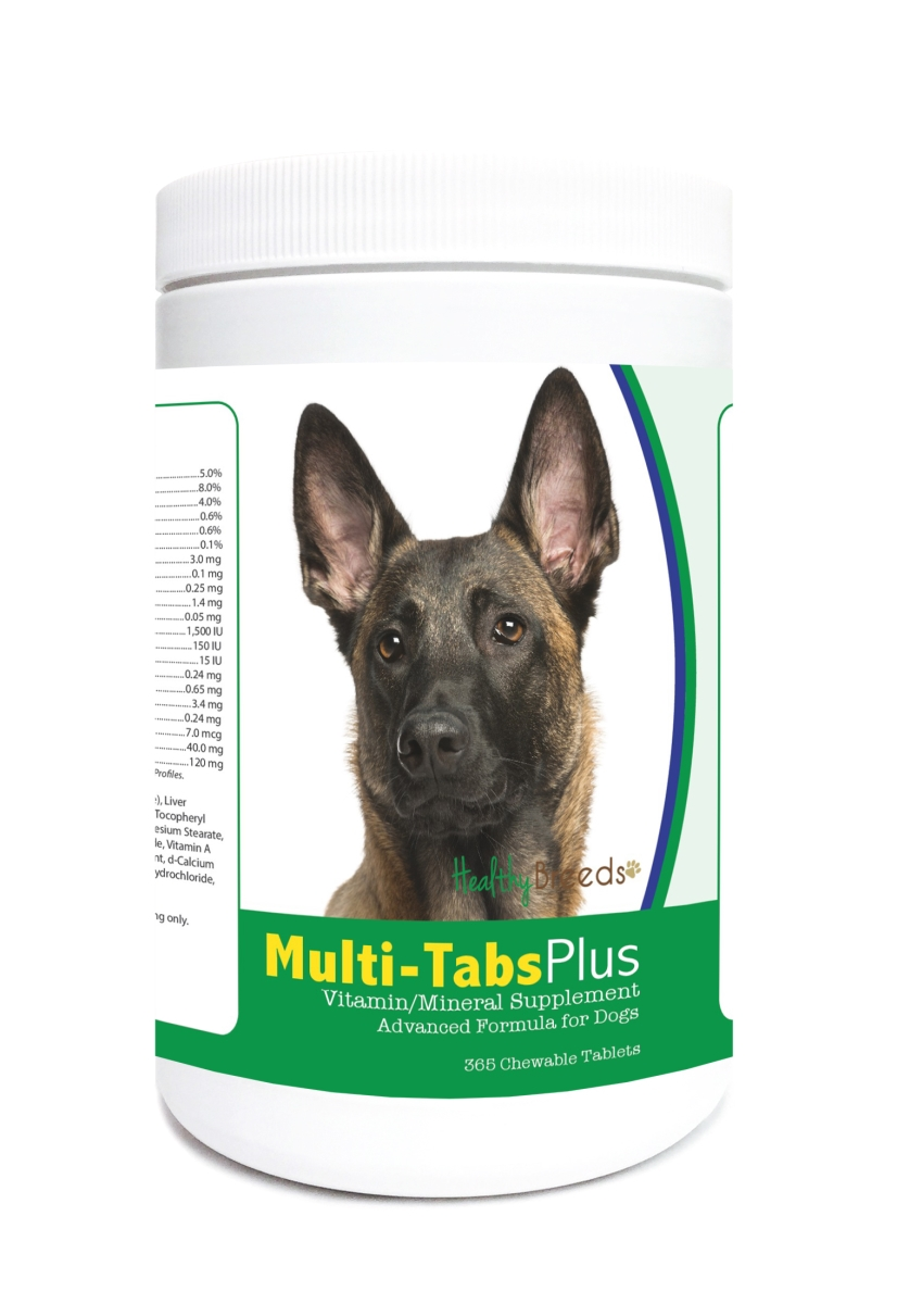 Healthy Breeds 840235121855 Belgian Malinois Multi-Tabs Plus Chewable Tablets - 365 Count