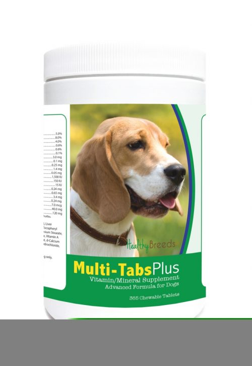 Healthy Breeds 840235121862 Beagle Multi-Tabs Plus Chewable Tablets - 365 Count