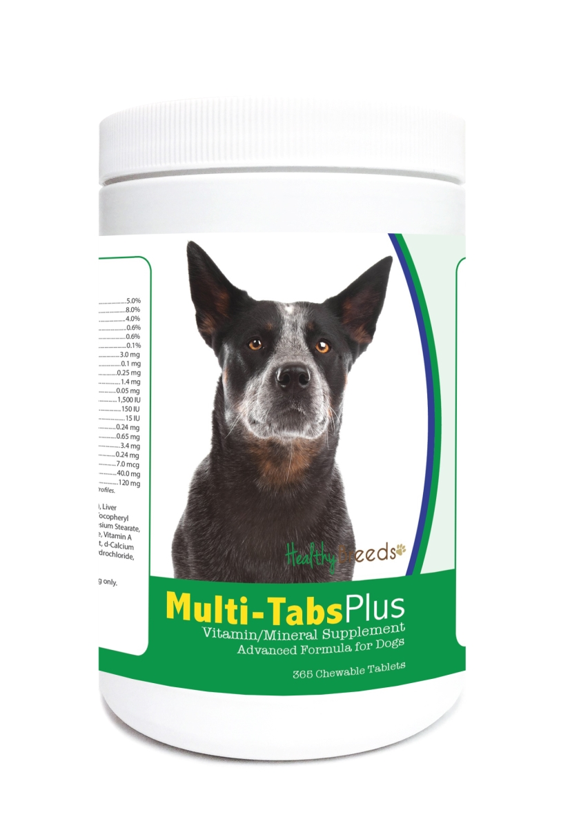 Healthy Breeds 840235121916 Australian Cattle Dog Multi-Tabs Plus Chewable Tablets - 365 Count